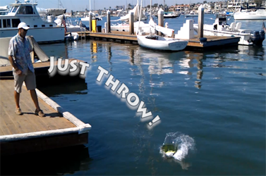 throwable self-inflating man overboard buoy