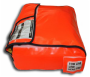 Life raft valise side view