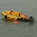 life raft ready for a boarder