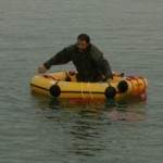 person in life raft