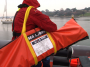man overboard recovery device, Sea Scoopa, in carrying bag