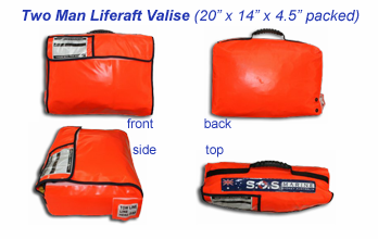 Two man coastal liferaft valise