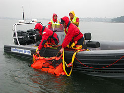 Sea Scoopa is designed for parbuckling victim in horizontal posture