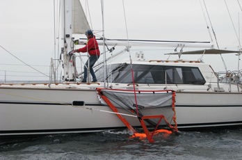 Man overboard floats into Sea Scoopa