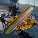 replacement carbon dioxide cylinder for 2 man coastal life raft from SOS Marine or Just Marine