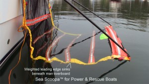man overboard recovery device for power boats