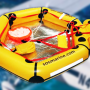 lightweight two man life raft for coastal aviation