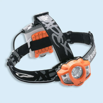 Spot, flood, or flashing LED headlamp