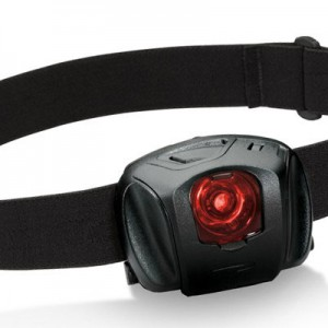 LED headlamp with red lens