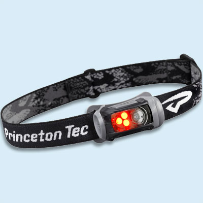 headlamp with both red and white LEDs