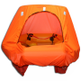 coastal life raft with canopy door open