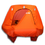 coastal life raft with canopy door half open