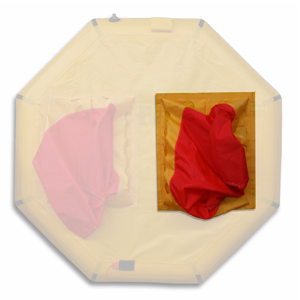 masked image of life raft ballast bag