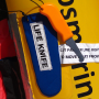 life raft safety knife with floating handle