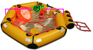 2 man coastal life raft with thermal floor