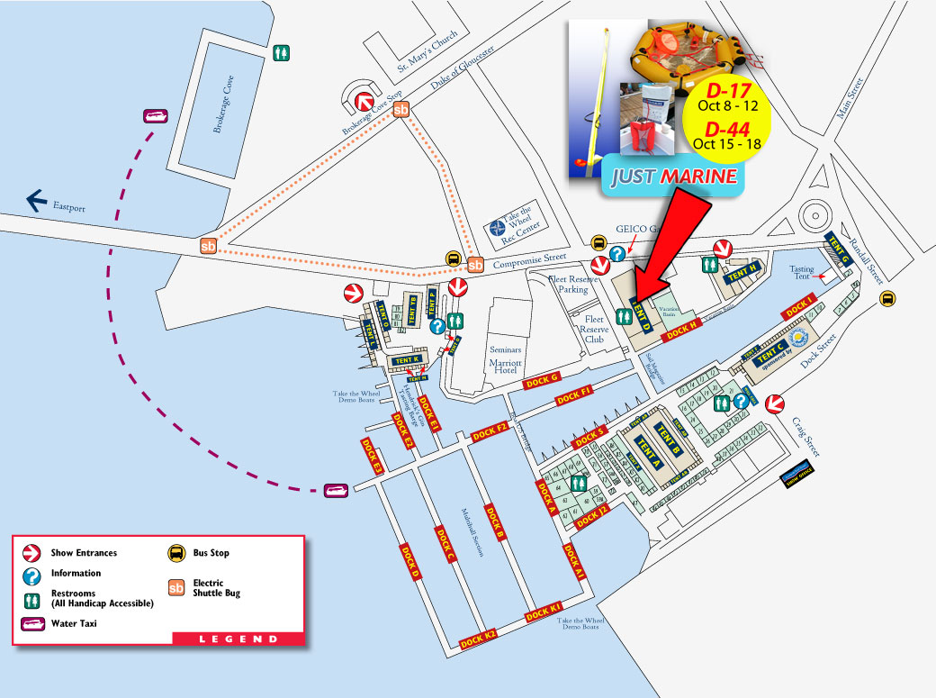 Annapolis Boat Show layout 2015