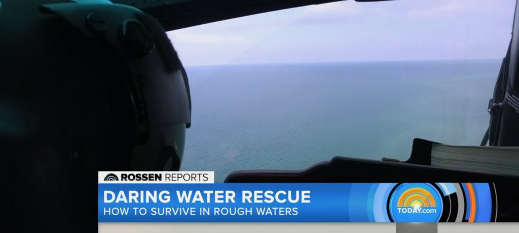 From the USCG rescue helicopter