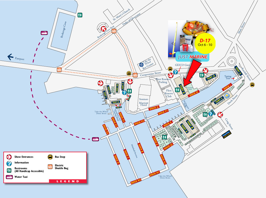 Annapolis Sailboat Show layout 2016