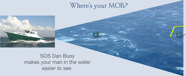 SOS Marine dan buoy makes man overboard easier to see