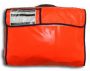 Life raft valise front view