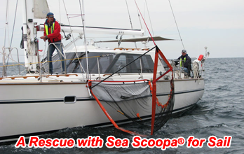 Sea Scoopa is also available for sailing yachts