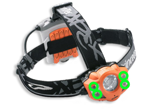 High power LED flood light headlamp