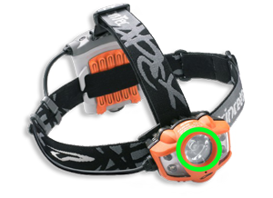 High power LED spot headlamp