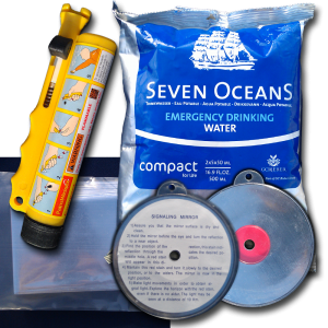 extra survival aids for coastal life raft