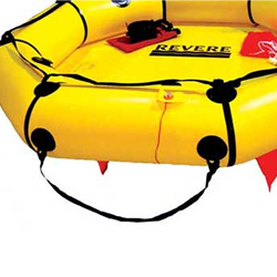 coastal life raft boarding