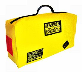 revere life raft in valise