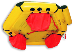 coastal life raft ballast pockets