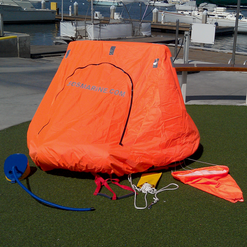 life raft with canopy