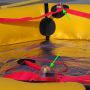 life raft with two strobes
