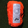 photo of diagram and text installation instructions for life raft canopy